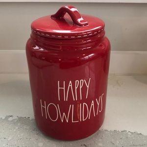 Rae Dunn- Christmas Dog treat canister